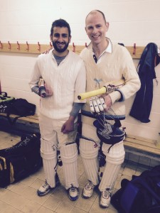 Thorpe (left) and Hussain (right) celebrate the win at Forest Row